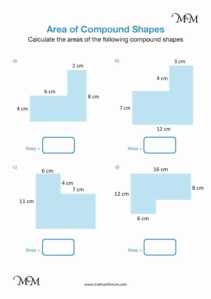 Compound area Worksheets Awesome area Of Pound Shapes Rectangles with Missing Sides