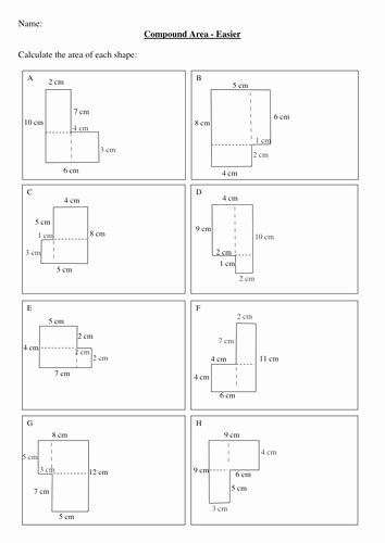 Compound area Worksheets Best Of Maths Ks2 Ks3 Pound areas Worksheet