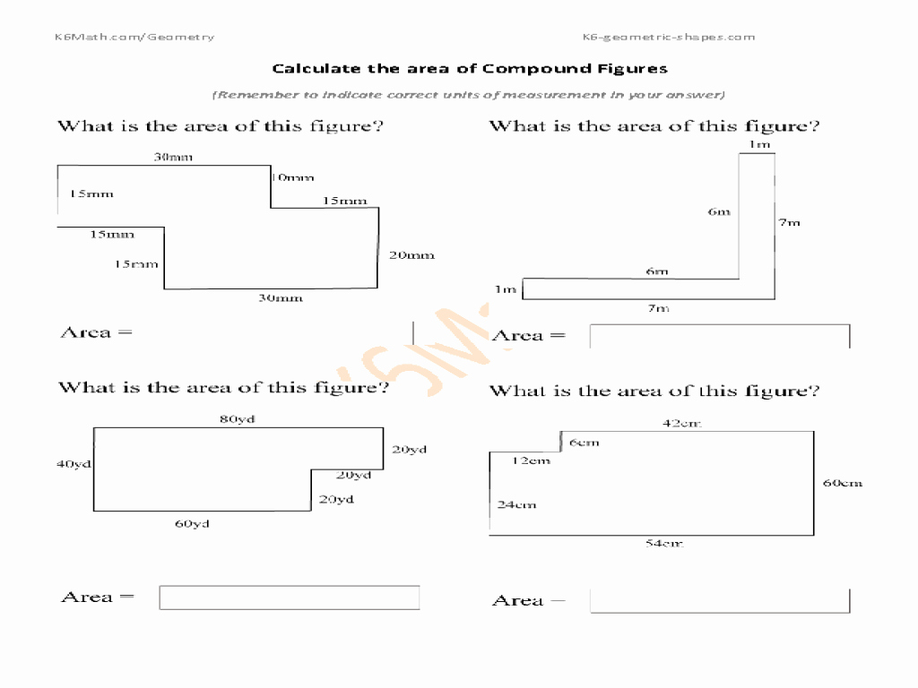 Compound area Worksheets Fresh Calculate area Of Pound Figures Worksheet