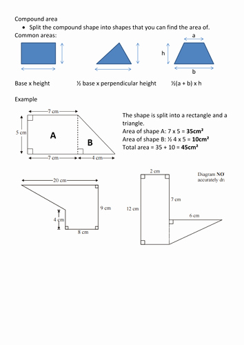 Compound area Worksheets New Pound area Revision by Frazzled22 Teaching Resources