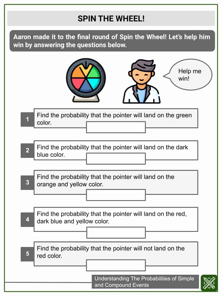 Compound events Worksheets Lovely Probabilities Of Simple and Pound events 7th Grade Math