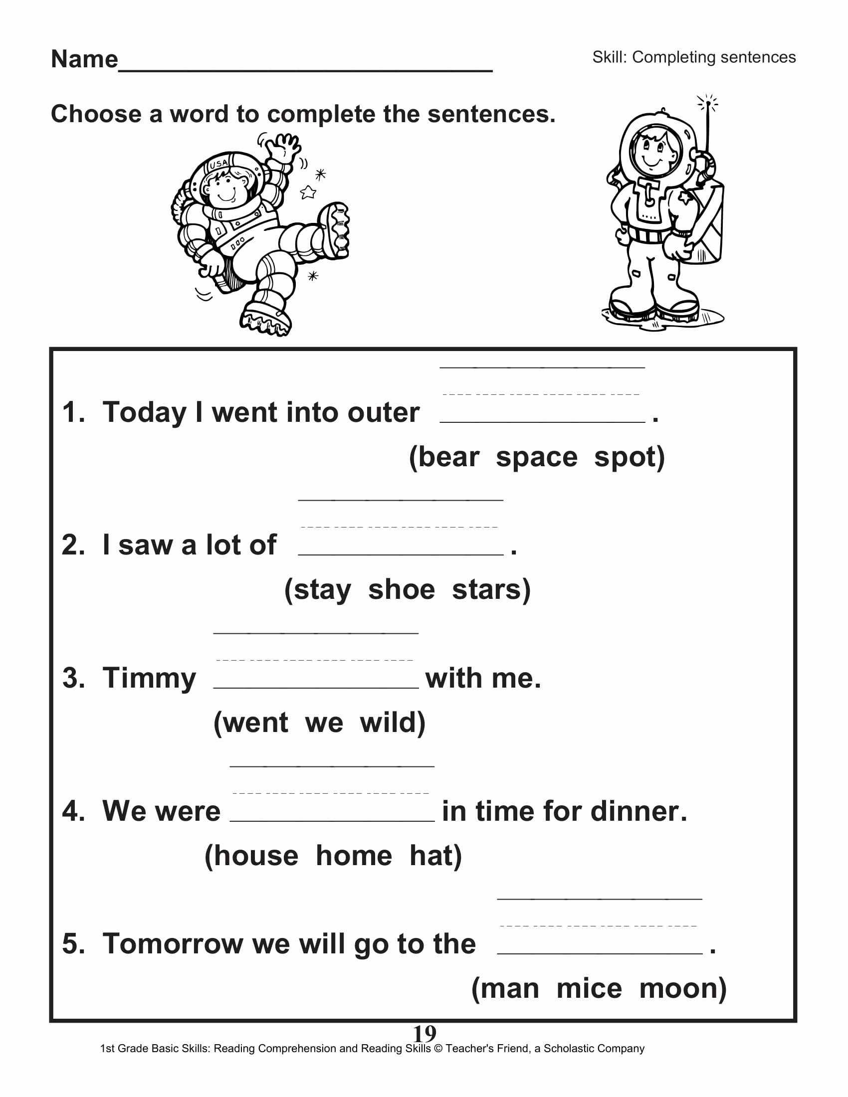 Comprehension Worksheet First Grade Elegant 40 Scholastic 1st Grade Reading Prehension Skills