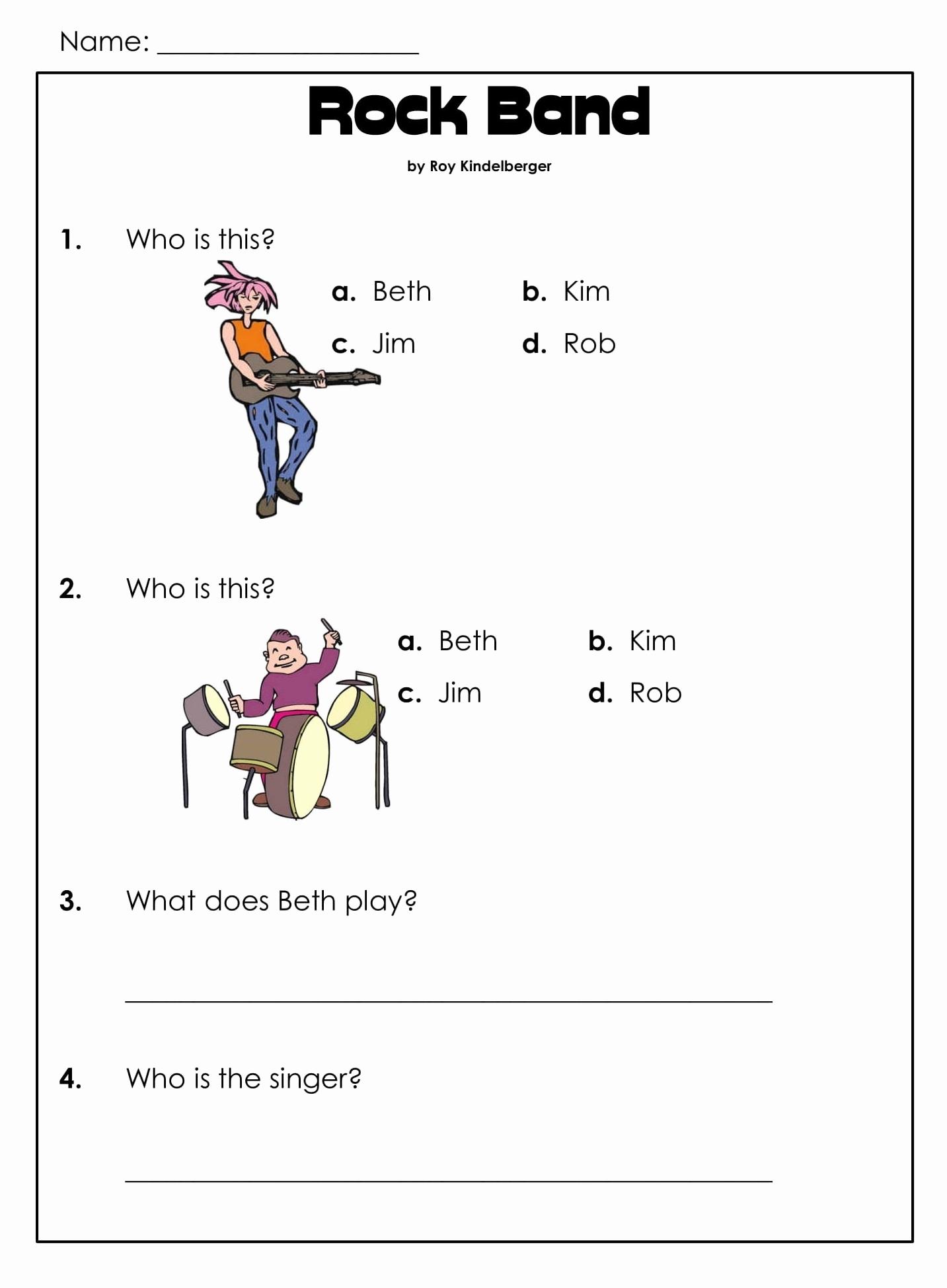 Comprehension Worksheet First Grade Inspirational 1st Grade Reading Prehension Worksheets Printable Pdf