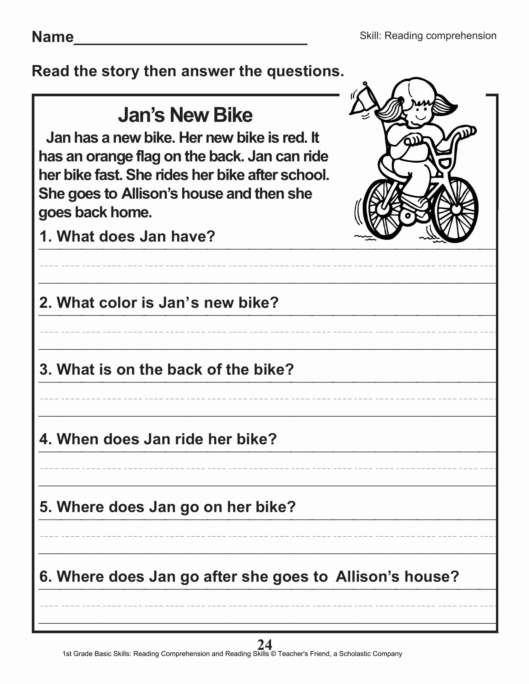 Comprehension Worksheet First Grade Inspirational 40 Scholastic 1st Grade Reading Prehension Skills