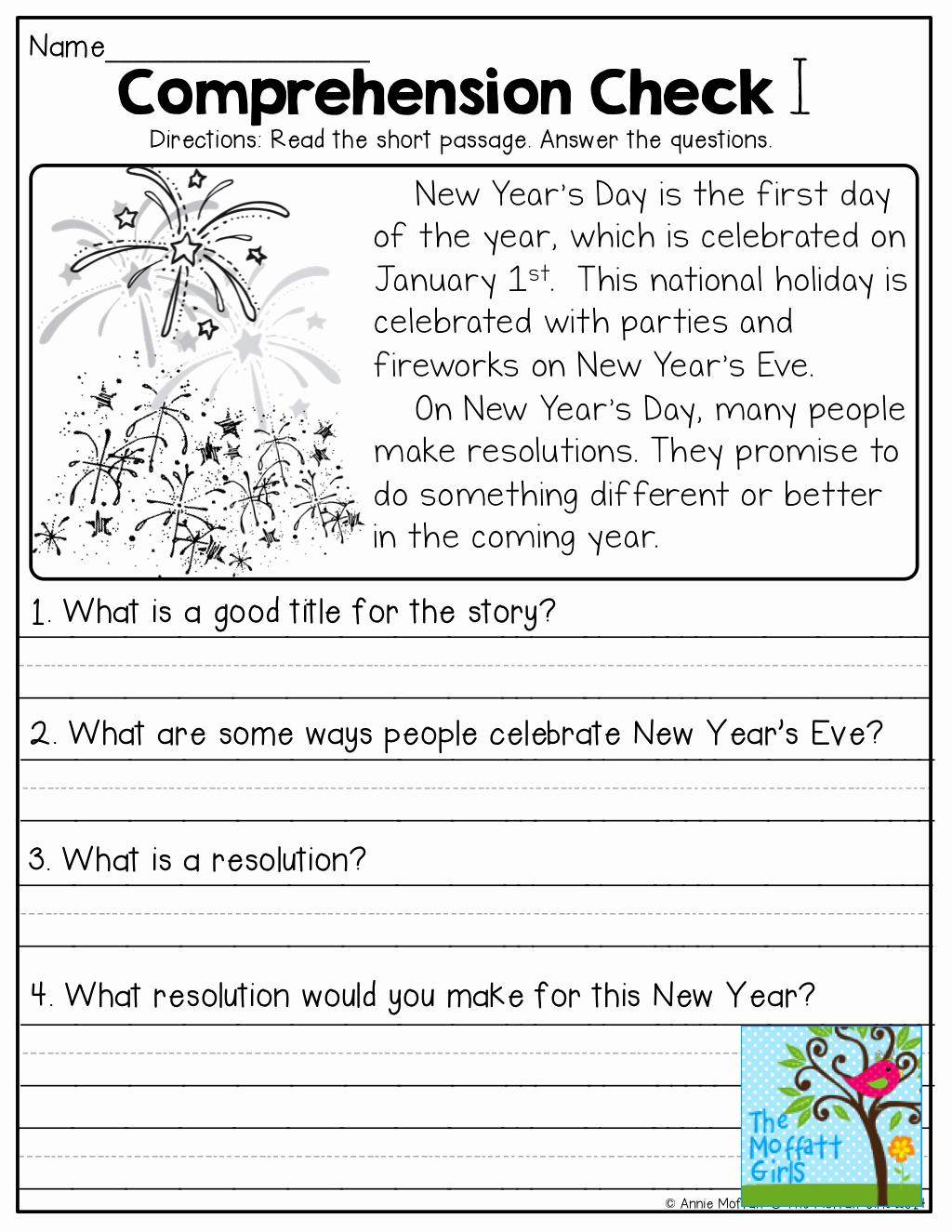 Comprehension Worksheet First Grade Lovely 1st Grade Reading Prehension Worksheets for Free Math