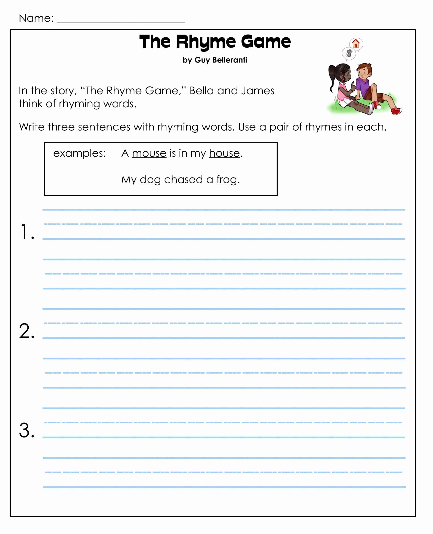 Comprehension Worksheet First Grade Lovely 1st Grade Reading Prehension Worksheets Printable Pdf