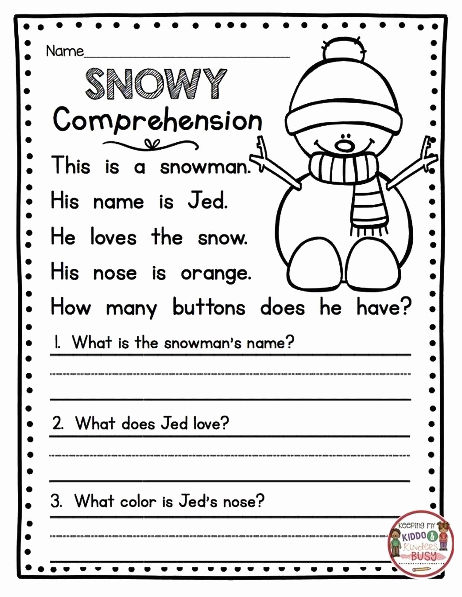 Comprehension Worksheet First Grade Unique 1st Grade Reading Prehension Worksheets Printable Pdf
