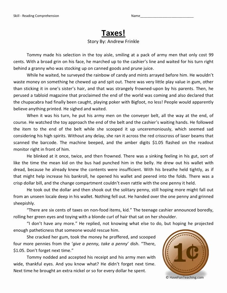 Comprehension Worksheets 6th Grade Inspirational Sixth Grade Reading Prehension Worksheets