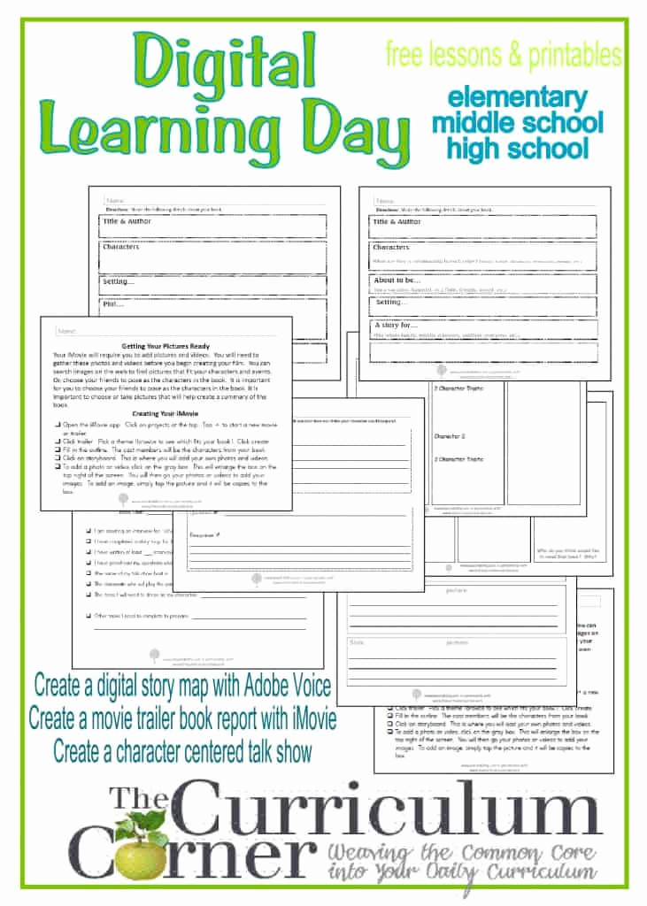 Computer Worksheets for Middle School Beautiful Digital Day Of Learning the Curriculum Corner 4 5 6