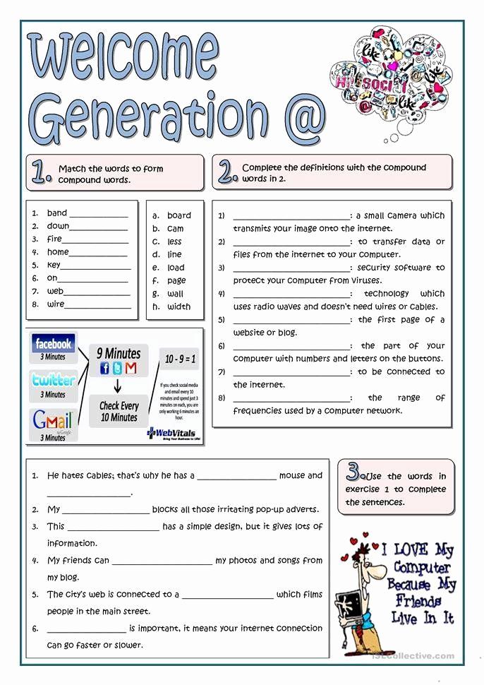 Computer Worksheets for Middle School Elegant Technology Worksheets for Middle School Puter Worksheets