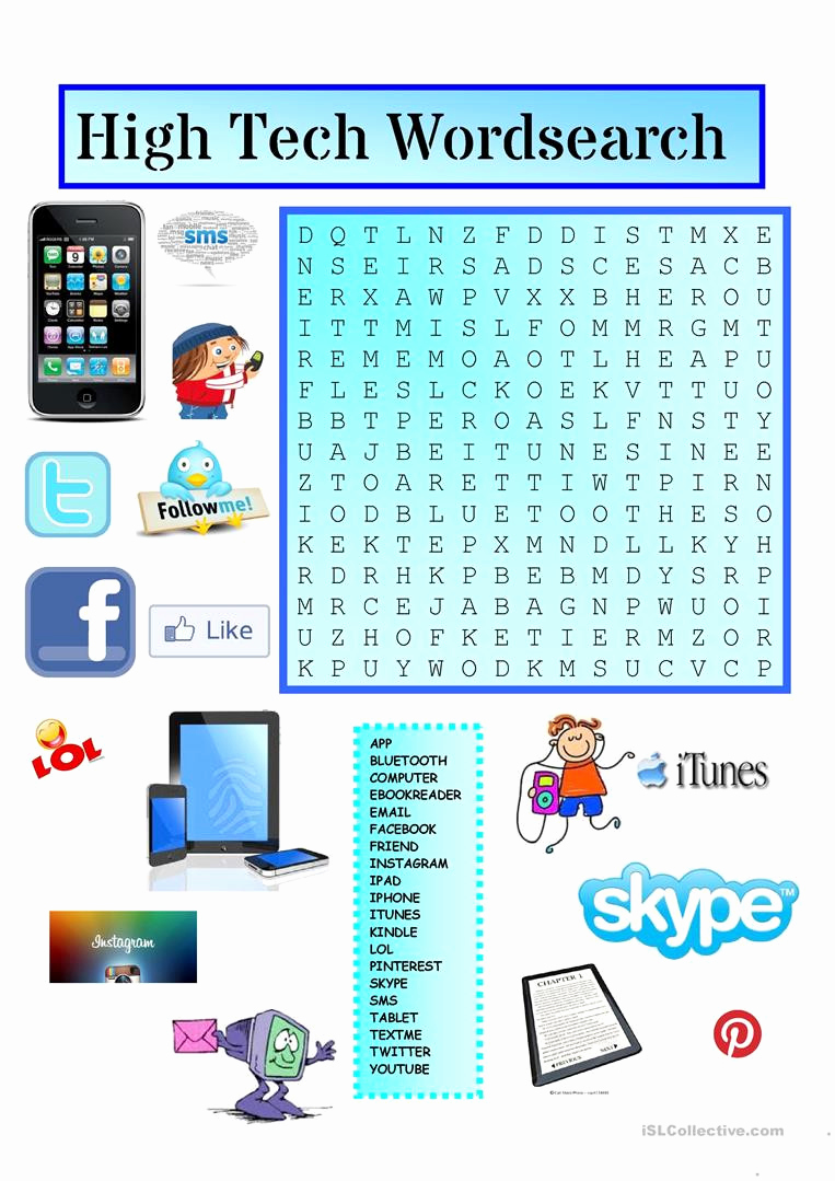 Computer Worksheets for Middle School New 20 Technology Worksheets for Middle School