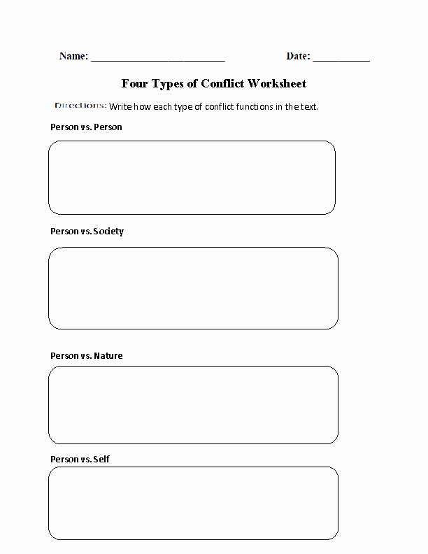 Conflict Worksheets Pdf Awesome Englishlinx