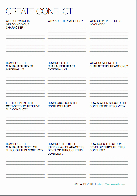Conflict Worksheets Pdf Inspirational Story Conflict How to Create Pound & Resolve