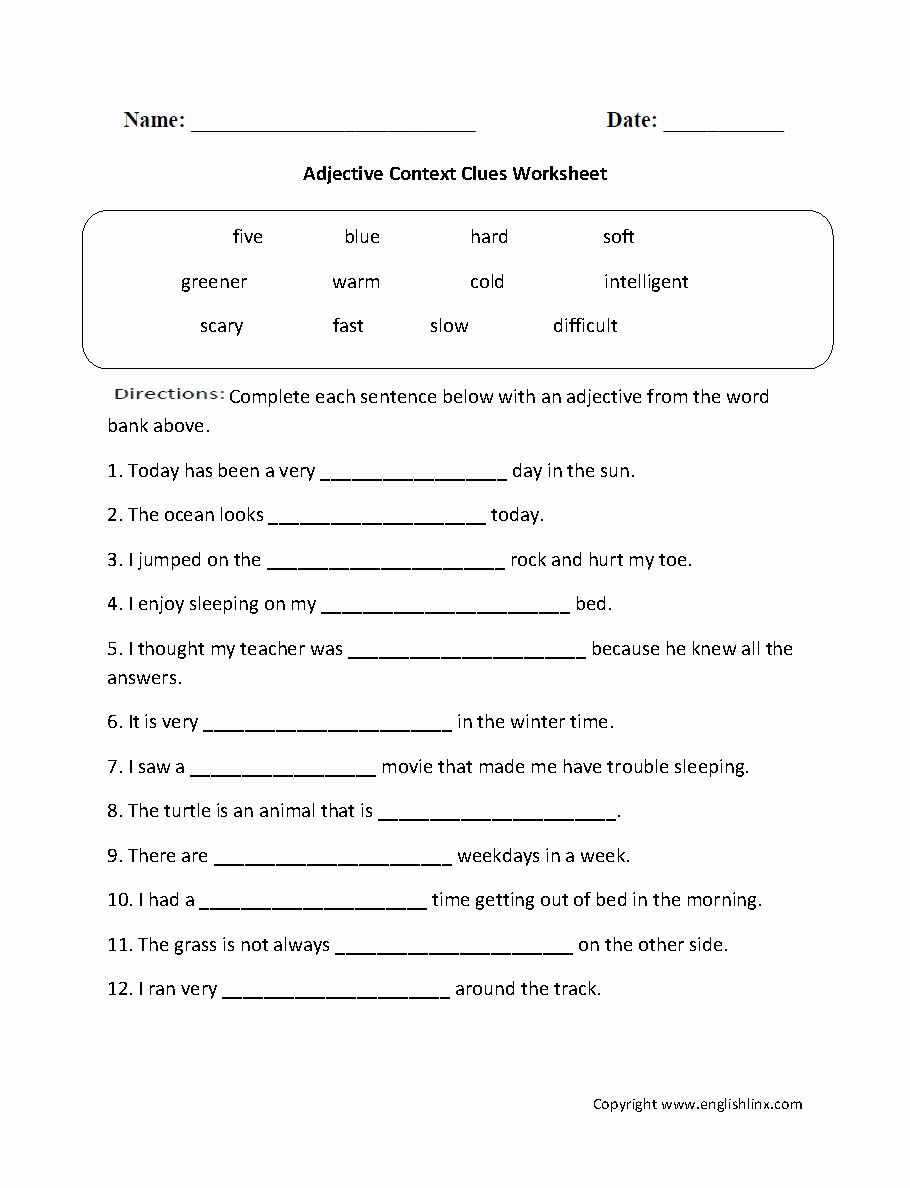Context Clues 5th Grade Worksheets Beautiful Context Clues Worksheets 5th Grade Multiple Choice