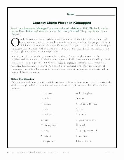 Context Clues 5th Grade Worksheets Fresh 5th Grade Context Clues Worksheets Vocabulary Context