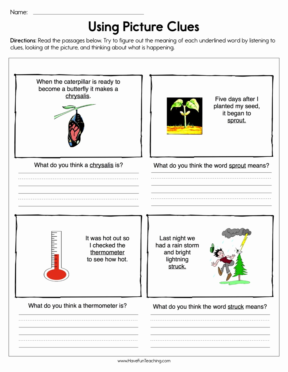 Context Clues Worksheets 1st Grade Awesome Pin by Have Fun Teaching On Kindergarten In 2020