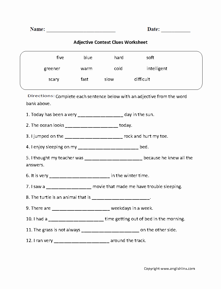 Context Clues Worksheets 1st Grade Beautiful Reading Worksheets