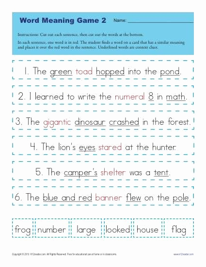 Context Clues Worksheets 1st Grade Best Of Context Clues Worksheets for 1st Grade