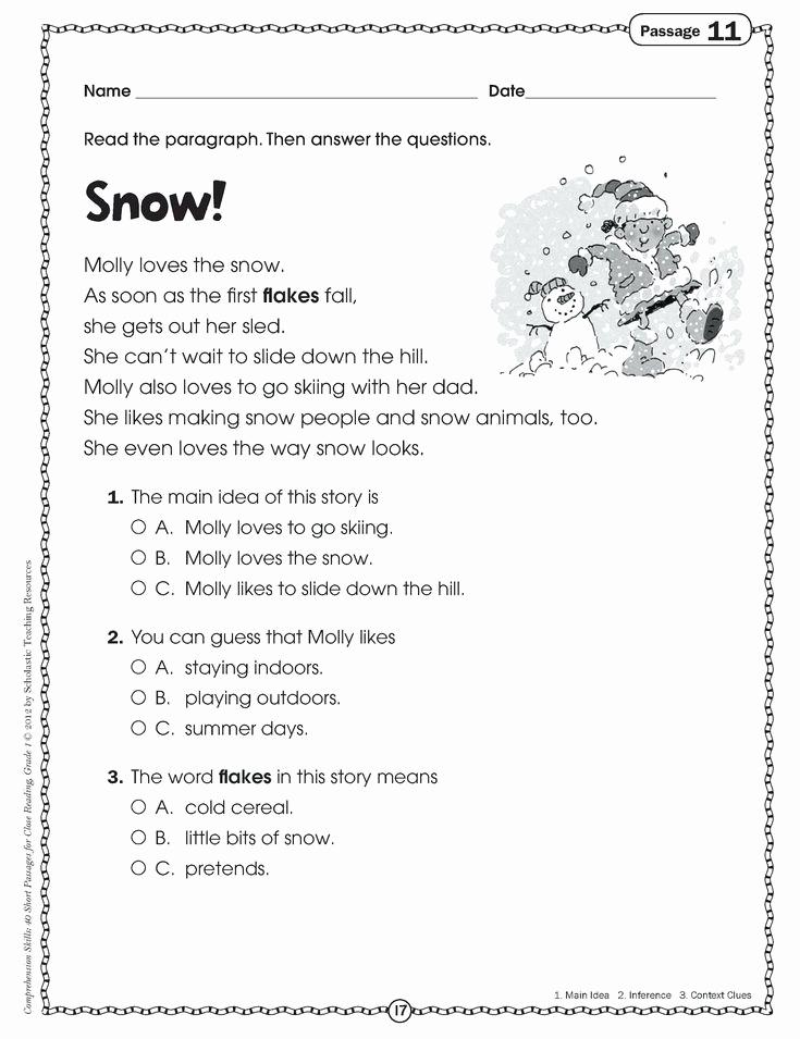 Context Clues Worksheets 1st Grade Fresh Kids Worksheets Context Clues 1st Grade Math E2 80 93 In