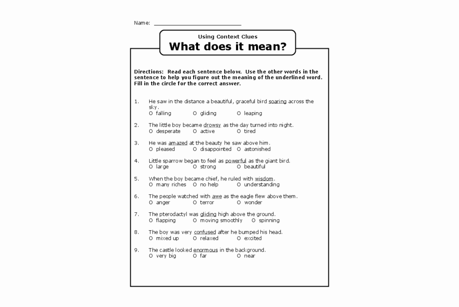 Context Clues Worksheets 1st Grade Luxury Context Clues Worksheets Grade 1 Context Clues