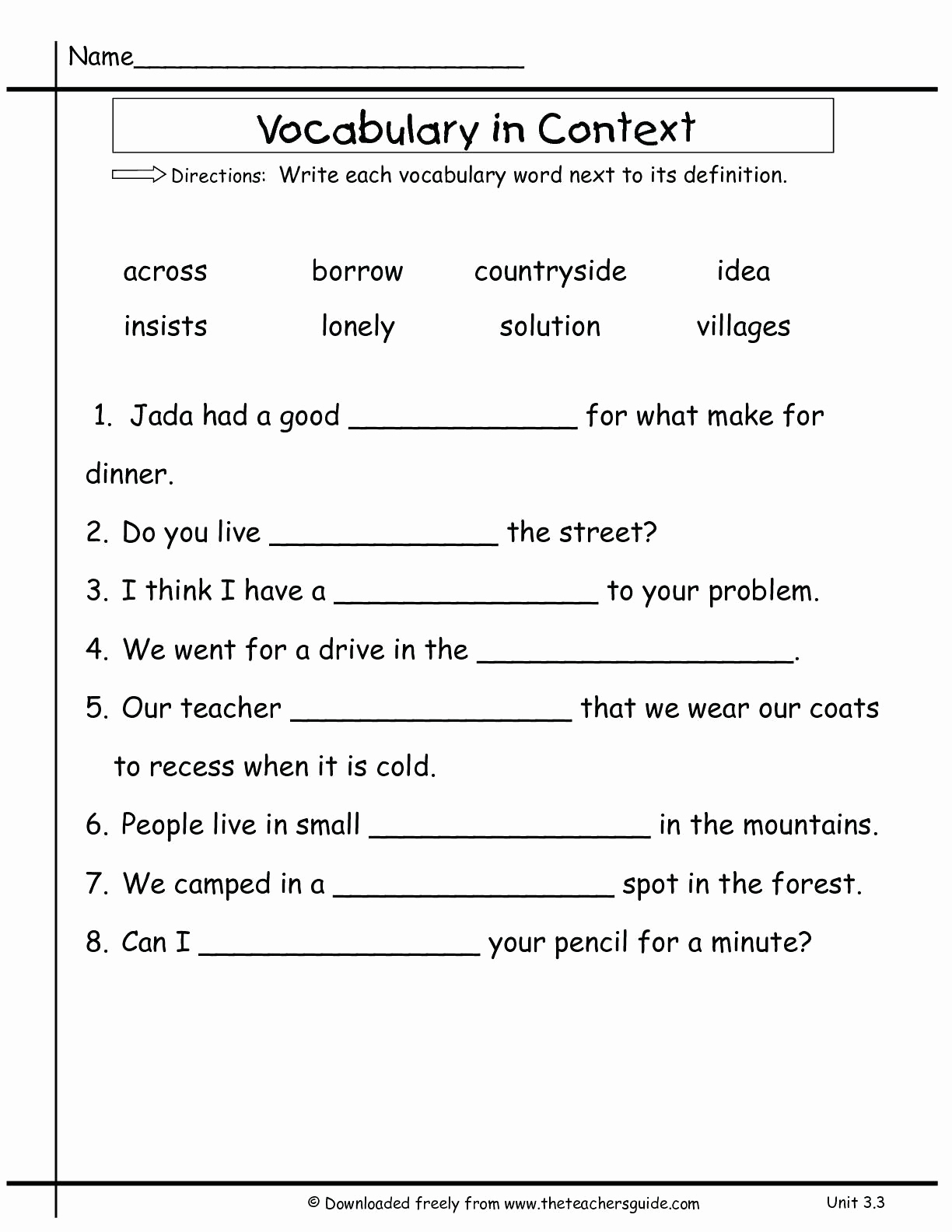 Context Clues Worksheets Second Grade Unique 20 Context Clues Worksheets 2nd Grade