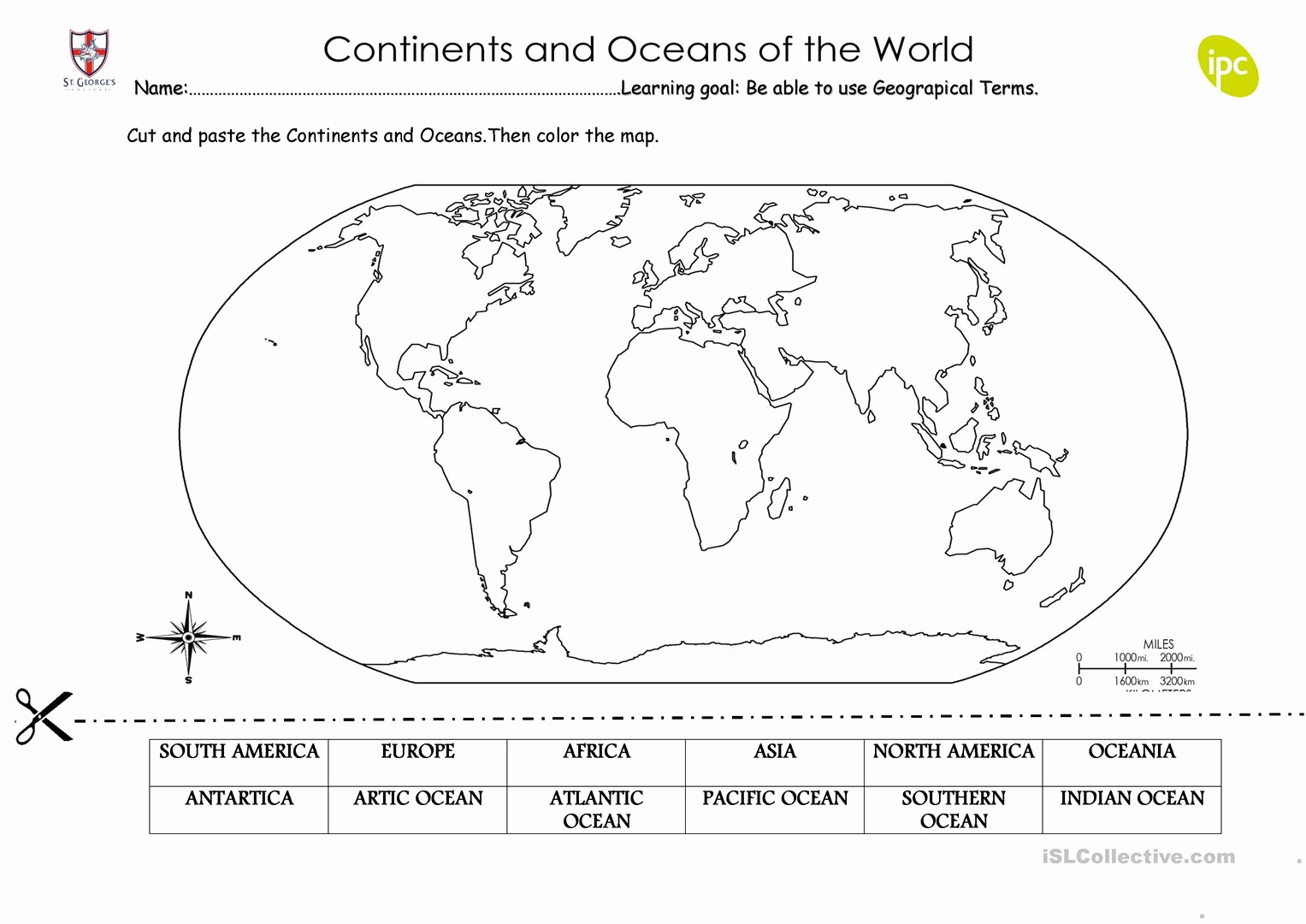 Continents and Oceans Worksheet Printable Best Of 35 Label the Continents and Oceans Worksheet Label