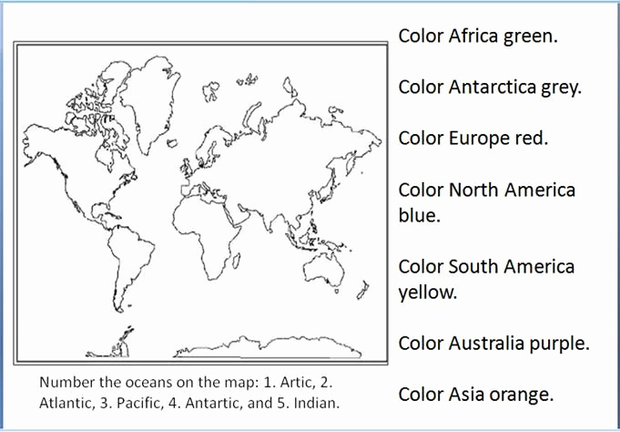 Continents and Oceans Worksheet Printable Lovely Pin On Geography