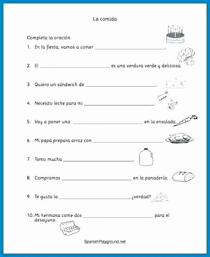 Cooking Worksheets for Middle School Inspirational Cooking Worksheets for Middle School Free Printable