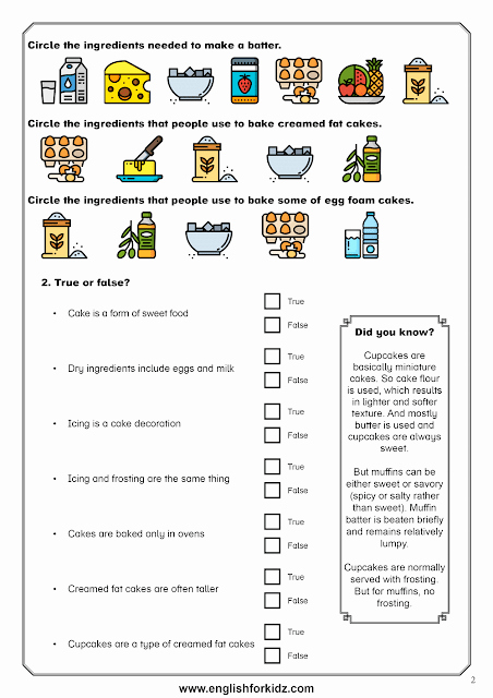 Cooking Worksheets for Middle School New Reading Prehension Worksheet Dedicated to the topic Of