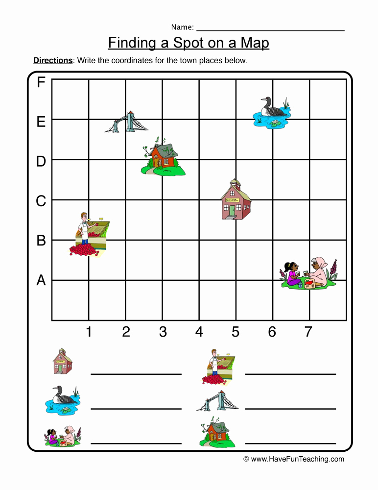 Coordinate Grid Map Worksheets Inspirational Graphing Worksheets