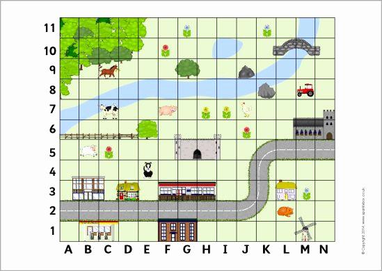 Coordinate Grid Map Worksheets New Coordinates Map Sb Sparklebox