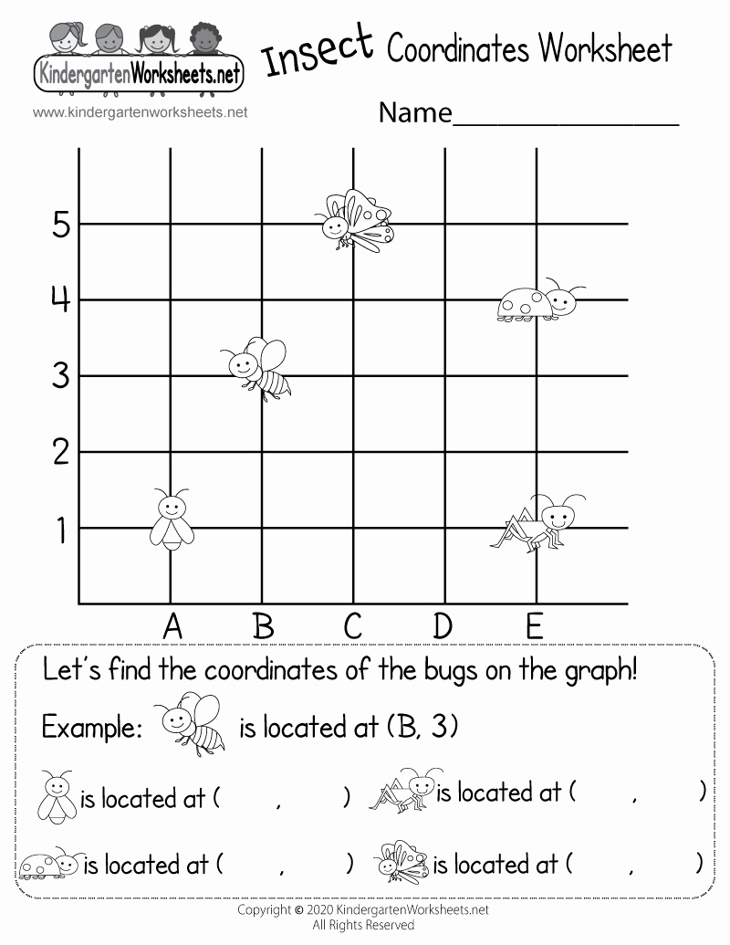Coordinate Grid Map Worksheets Unique Kindergarten Math Coordinates Worksheet Free
