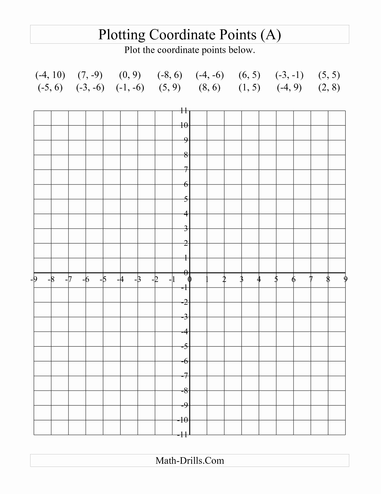 Coordinate Grid Worksheets Pdf Elegant 8 Best Of Blank Coordinate Plane Worksheets