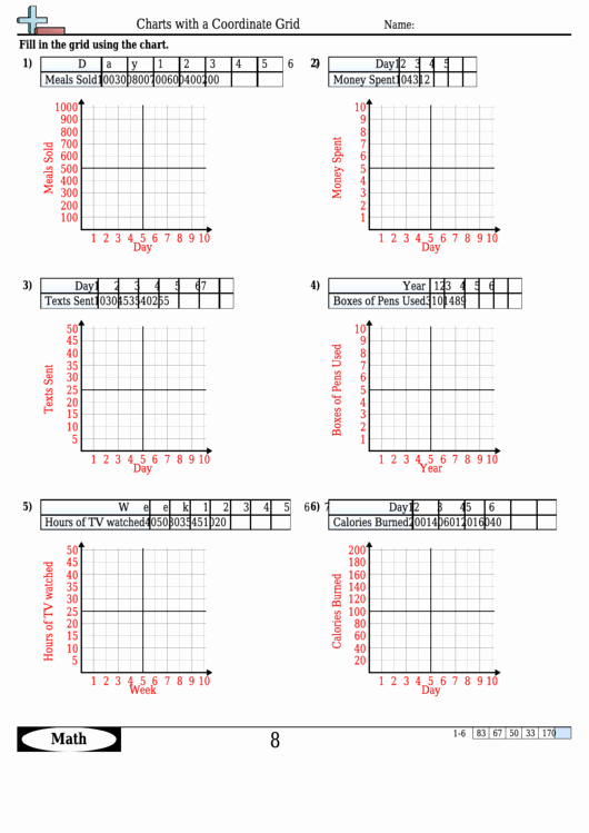 Coordinate Grid Worksheets Pdf Inspirational Charts with A Coordinate Grid Worksheet Template with