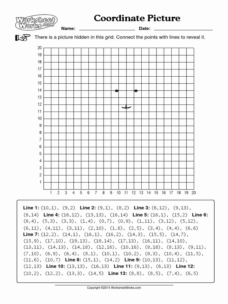 Coordinate Grids Worksheets 5th Grade Beautiful Coordinate Picture Worksheets Works