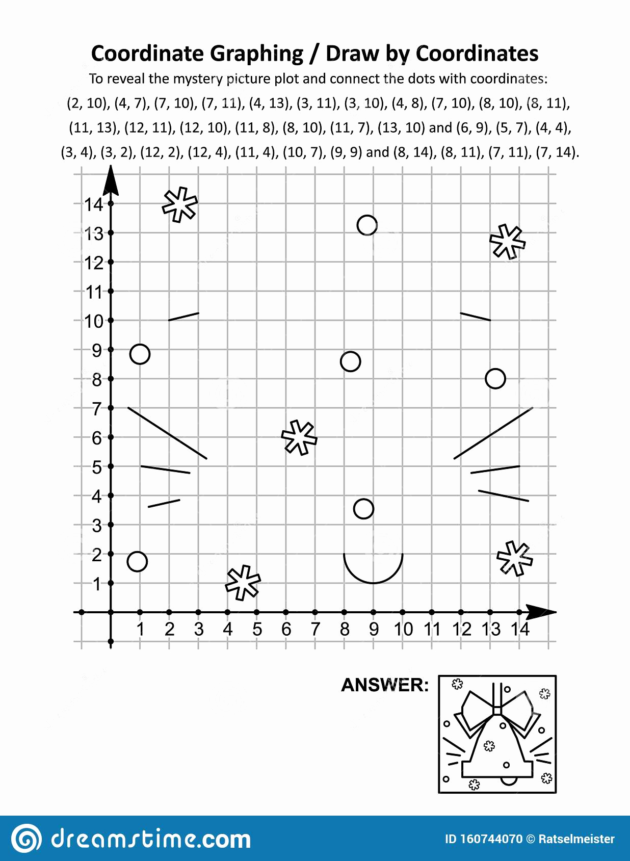 Coordinate Pictures Worksheet Awesome Christmas Coordinate Graphing Worksheets