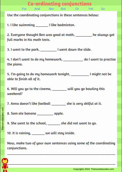Correlative Conjunctions Worksheet 5th Grade Beautiful Conjunction Worksheets Grade 5 Pdf Step by Step Worksheet