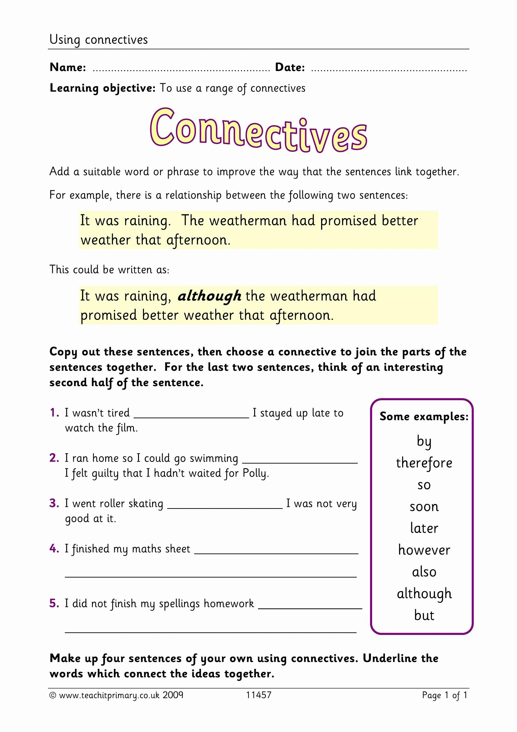 Correlative Conjunctions Worksheet 5th Grade Best Of 20 Correlative Conjunctions Worksheet 5th Grade