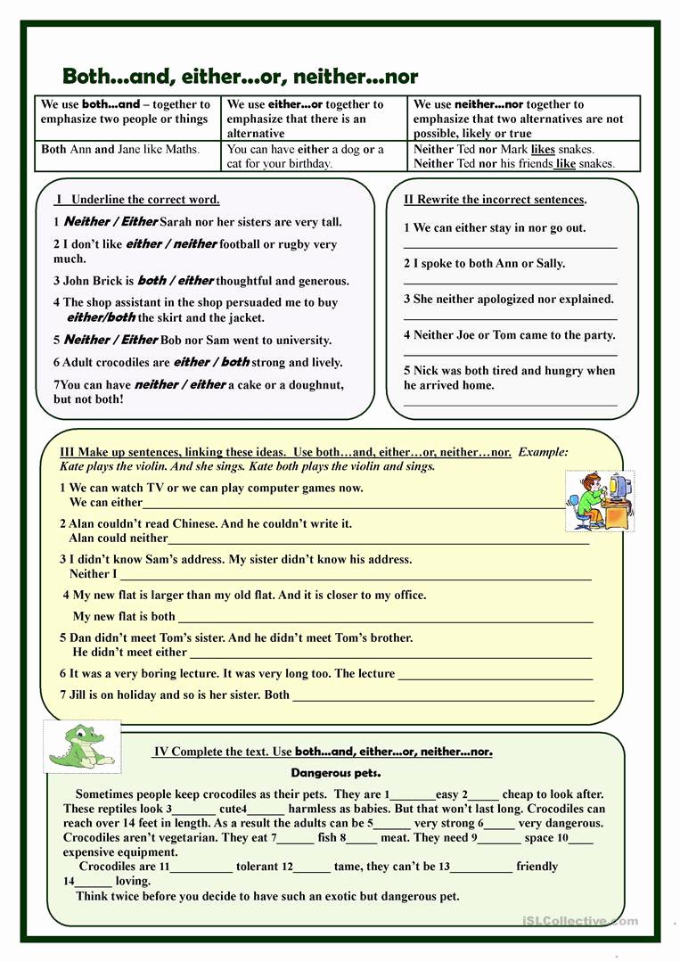 Correlative Conjunctions Worksheet 5th Grade Fresh 20 Correlative Conjunctions Worksheet 5th Grade