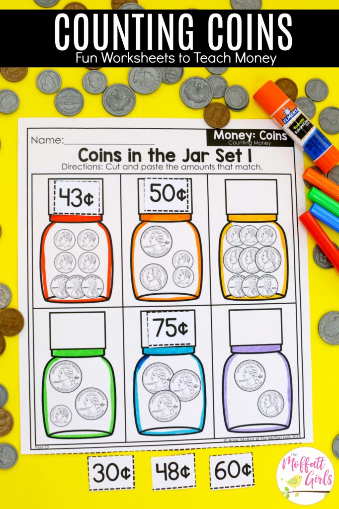 Counting Coins Worksheets First Grade Inspirational First Grade Math Money