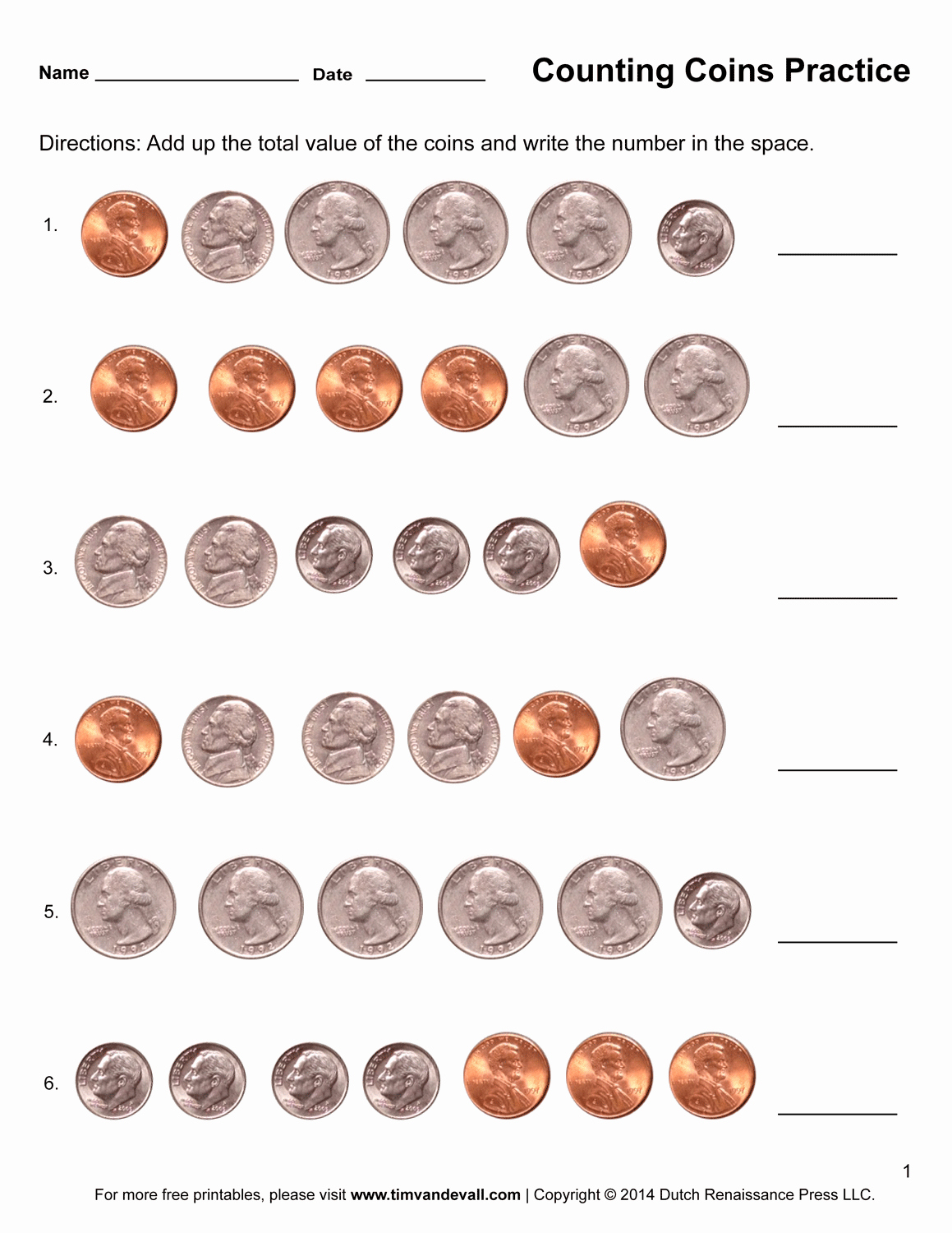 Counting Coins Worksheets First Grade Unique Counting Coins Worksheets – Printable First Grade Math