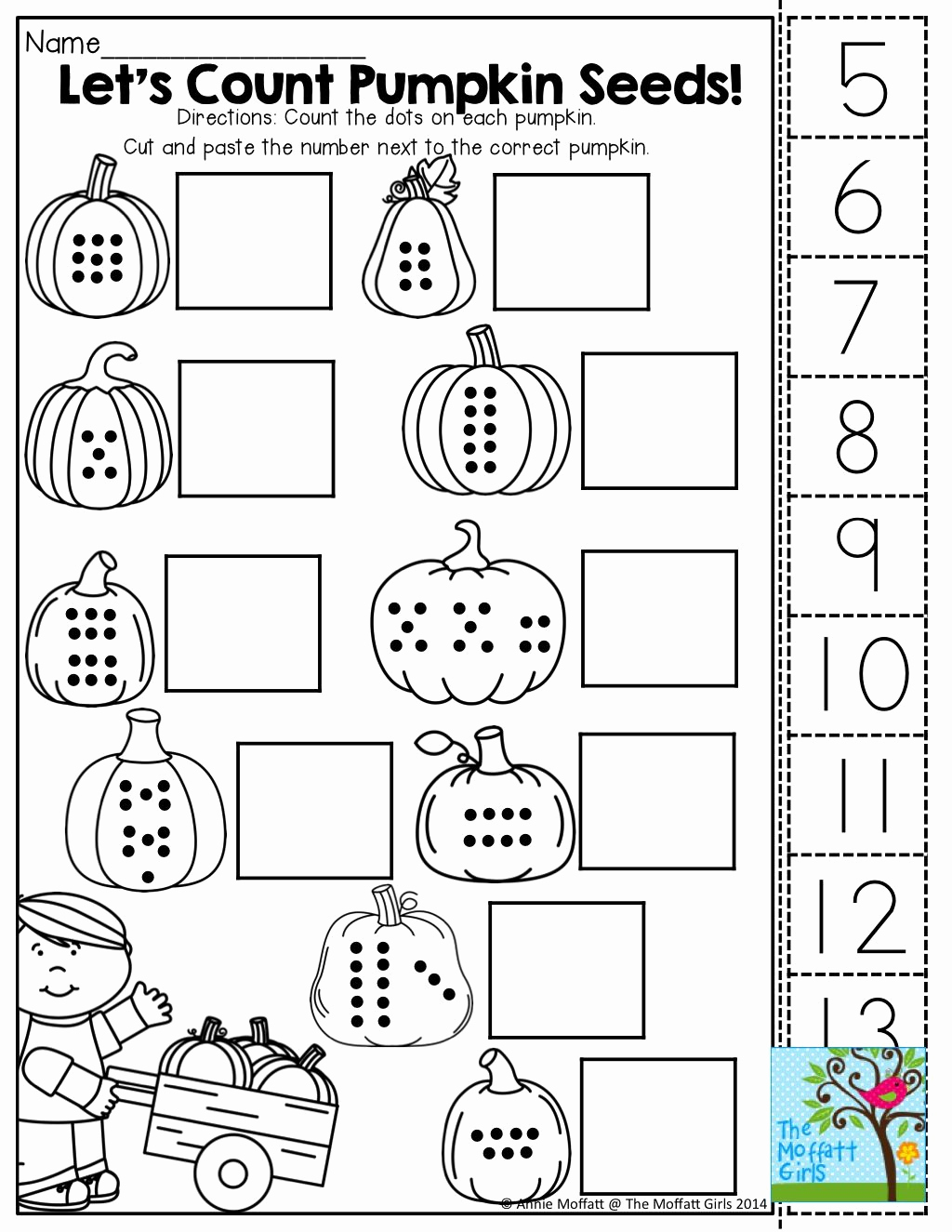 Counting Cut and Paste Worksheets Awesome Count Cut and Paste tons Of Fun Printables