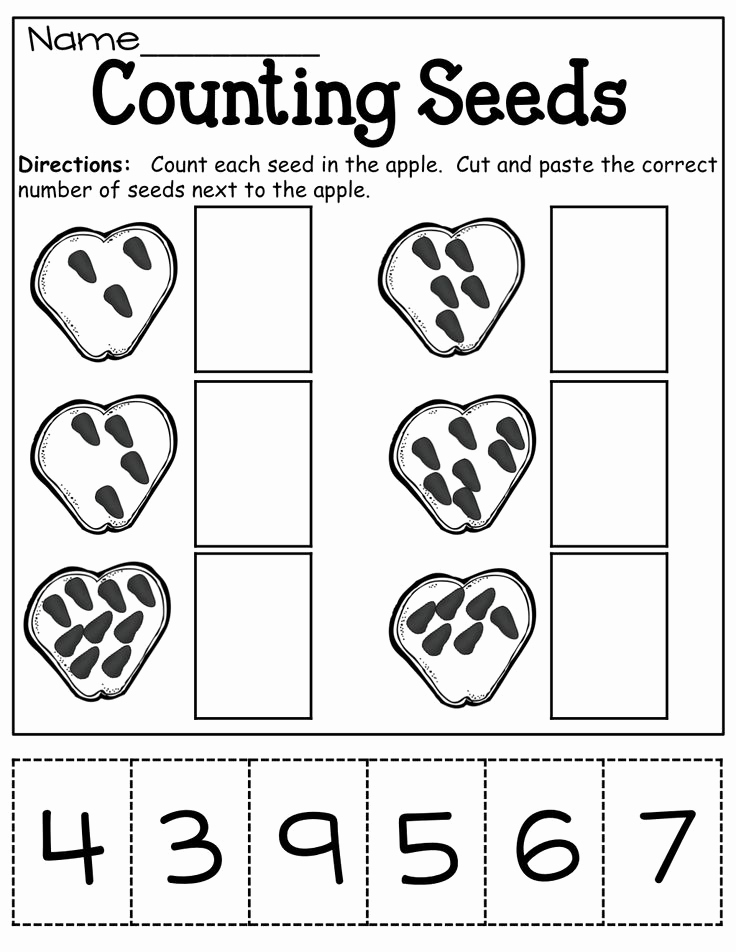 Counting Cut and Paste Worksheets Beautiful 16 Best Of Kindergarten Cut and Paste Math