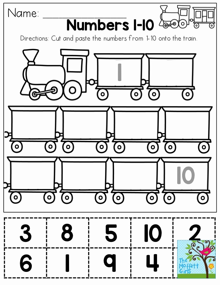 Counting Cut and Paste Worksheets Fresh Cut and Paste Numbers 1 10 You Could Use This as A One