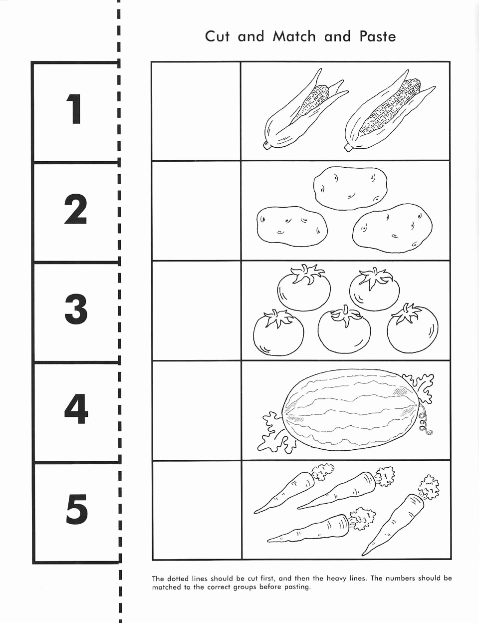 Counting Cut and Paste Worksheets Fresh Pin On Pre K Math