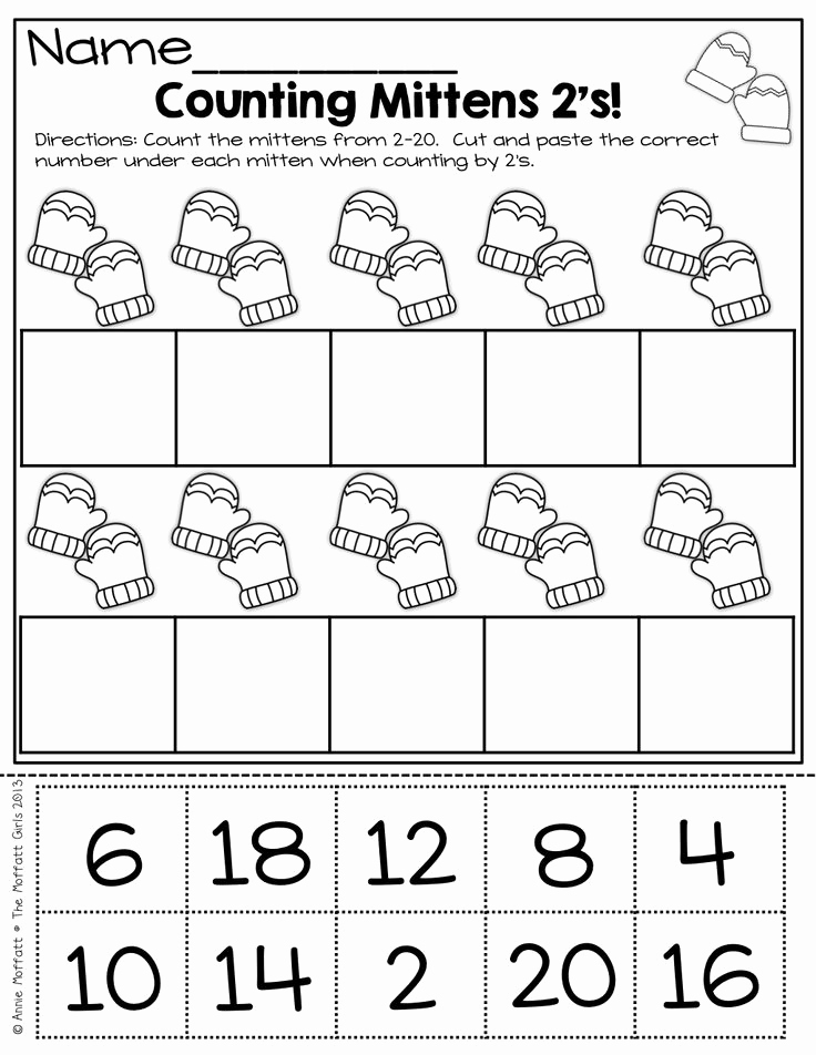 Counting Cut and Paste Worksheets Inspirational 17 Best Of Winter Counting Worksheets Winter