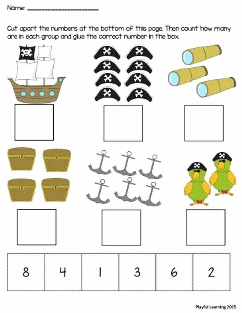 Counting Cut and Paste Worksheets Lovely Cut and Paste Counting Worksheets