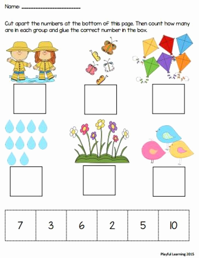 Counting Cut and Paste Worksheets New Cut and Paste Counting Worksheets