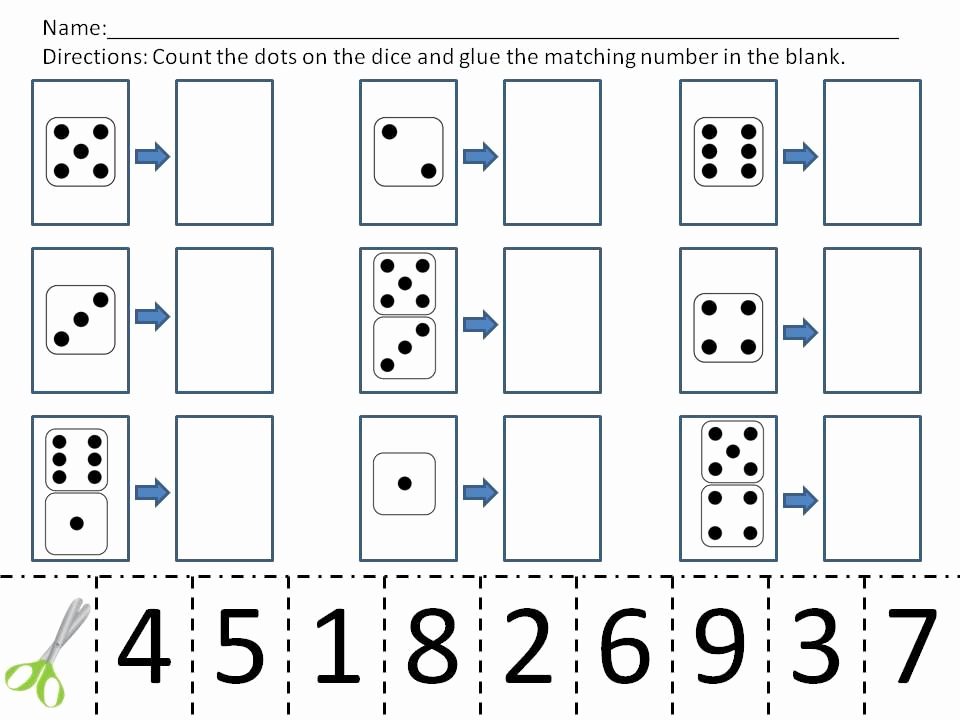 Counting Cut and Paste Worksheets New Pin On Kindergarten Math
