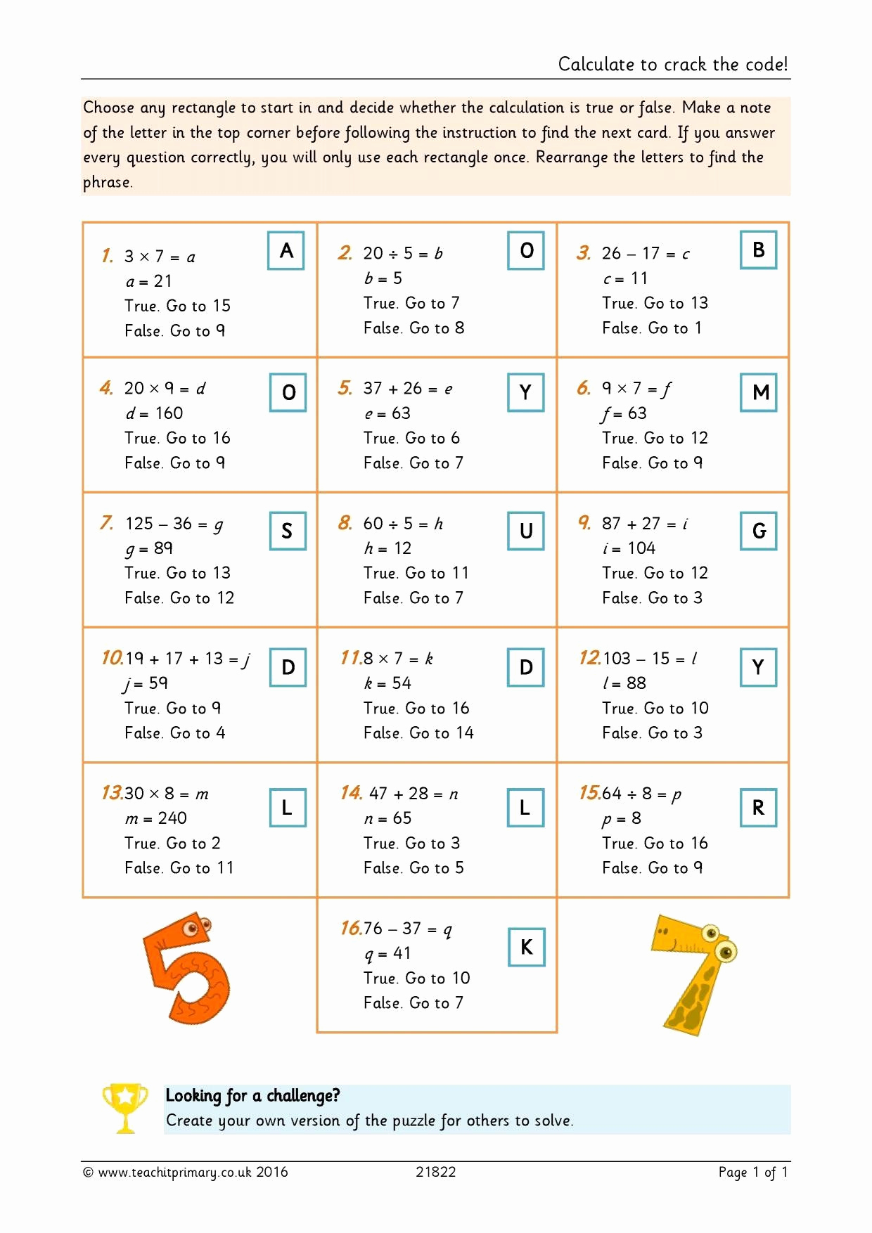 Cracking the Code Math Worksheets Awesome Pin On Printable Math Worksheet for Kids